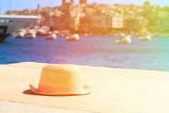 Hat on vacation in summer Malta Royalty Free Stock Photos
