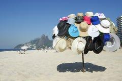 Hat Vendor Ipanema Beach Rio de Janeiro Brazil Royalty Free Stock Images