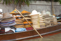 Hat Vendor on River Market Royalty Free Stock Photos