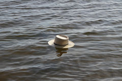 Hat in water. Royalty Free Stock Photos