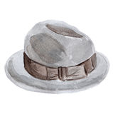 Hat watercolor Stock Images