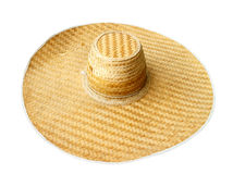 Hat weave bamboo. Brown pattern Thailand culture background photo Royalty Free Stock Photo