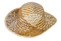 Hat weave wicker wide ancient traditional Stock Photography