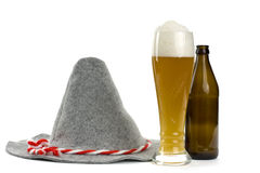 Hat and wheat beer Stock Images