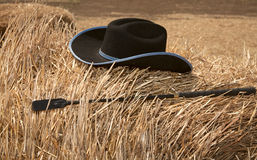 Hat and whip Stock Photo