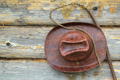 Hat and whip Royalty Free Stock Photography