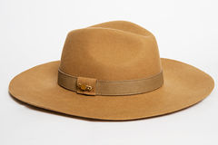 Hat on a white royalty free stock photos