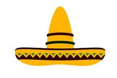 Hat on white background. Cinco de Mayo style stock illustration