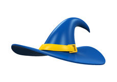 Hat of the Wizard. Isolated on white background. 3D render Royalty Free Stock Images
