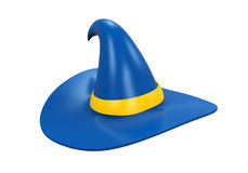 Hat of the Wizard. Isolated on white background. 3D render Royalty Free Stock Image