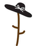 Hat. The woman hat on white background Stock Image
