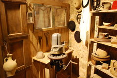 Hat workshop. The hat workshop has begun the twentieth century in Jerusalem Stock Images