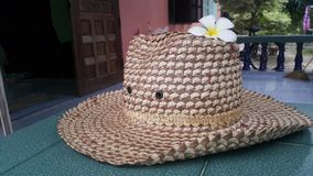Hat. Woven from krajood.weaving a  woven from craft. Hade made Royalty Free Stock Images