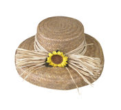 Hat wth Sunflower Royalty Free Stock Photography
