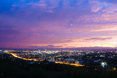 Hat Yai City at Night Stock Photo