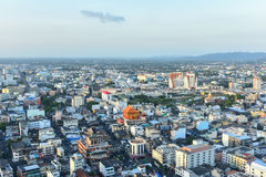 Hat Yai city view. SONGKHLA, THAILAND - MAR 04 : Hat Yai city view on March 04, 2016 in Songkhla, Thailand. Taken from Lee garden plaza Royalty Free Stock Photo