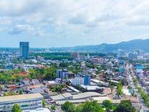 Hat Yai cityscape fotografering för bildbyråer