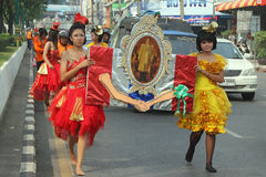 Hat Yai Loyalty Parade Stock Photos