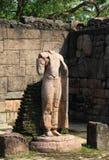 Hatadage, Polonnaruwa在斯里兰卡 库存照片