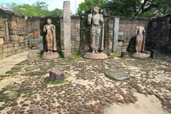Hatadage, Polonnaruwa在斯里兰卡 库存图片