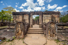 Hatadage, Polonnaruwa,斯里兰卡 免版税库存照片