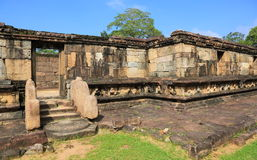 Hatadage Polonnaruwa i Sri Lanka Arkivbilder