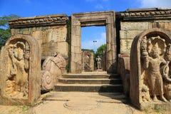 Hatadage, Polonnaruwa nello Sri Lanka Fotografia Stock Libera da Diritti