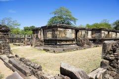 Hatadage, Polonnaruwa, Sri Lanka. Image of the ancient Hatadage or Tooth Relic Temple at Polonnaruwa, Sri Lanka. The Hatadage was founded by King Nissankamalla ( Royalty Free Stock Photos