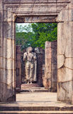 Hatadage ruins in Polonnaruwa city temple UNESCO Stock Photos