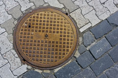 Hatch of the city sewerage Royalty Free Stock Photography