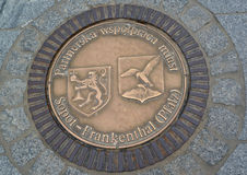 Hatch cover in Sopot, Poland.  stock image