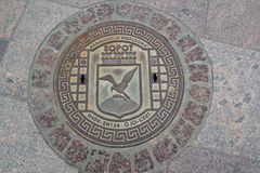 Hatch cover in Sopot, Poland.  royalty free stock photos