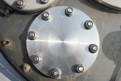 Hatch detail - flange Royalty Free Stock Image