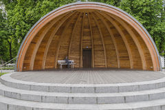 Hatch Shell bandstand Stock Photo