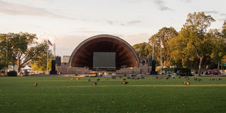 The Hatch Shell at sunset Stock Image