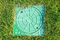 Hatch of the storm water drain Stock Images