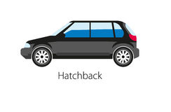 Hatchback automobile isolated on white. Realistic vector illustration Royalty Free Stock Images