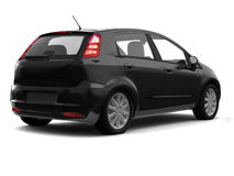 Hatchback black car back view Stock Photography