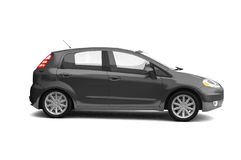 Hatchback black car side view Royalty Free Stock Image