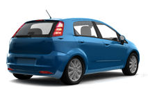 Hatchback blue car back view Royalty Free Stock Photos