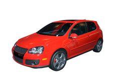 Hatchback de Volkswagen Imagem de Stock Royalty Free