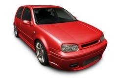 Hatchback encarnado Imagem de Stock Royalty Free