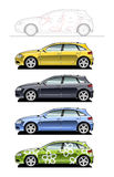 Hatchback(five door) Stock Images