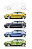 Hatchback(five door) Stock Images
