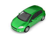 Hatchback Green Car Top View Stock Photography
