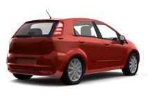 Hatchback red car back view Royalty Free Stock Photography