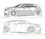 hatchback renderingu nakreślenia sport Zdjęcie Stock