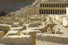 Hatchepsut Temple ruins Stock Photography