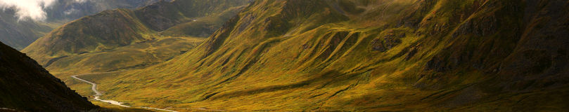 Hatcher Pass, Alaska, Panorama royalty free stock photography