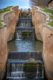 Channel of Castile. The hatches of the Channel of Castile in Fromista, province of Palencia, Spain royalty free stock photos